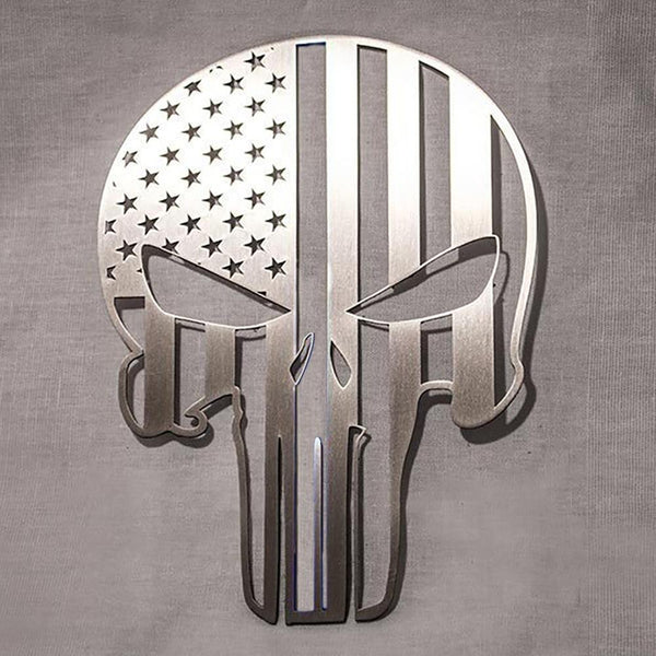 "Corvette American Pride Patriot Skull Emblem 6"" : C5, C6, C7-Letter Sets & Emblems-American Car Craft"