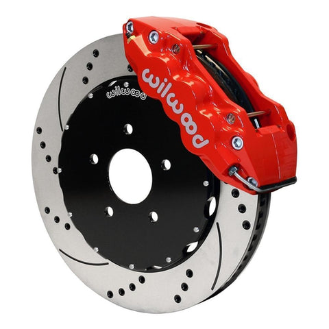 Corvette Brake Package - W6A Big Brake Caliper Red/2 Pc Rotors : 2006-2013 C6Z06, GS-Brake Packages-Wilwood