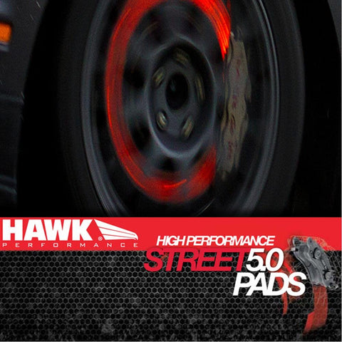 Corvette Brake Pads - Hawk High Performance Street 5.0 - Front 1 Pc. : 2006-2013 Z06 & Grand Sport-Brake Pads-Hawk Performance