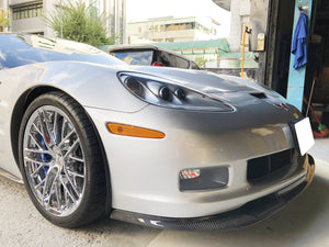 Corvette C6 ZR1 Style Front Splitter - Carbon Fiber : 2006-13 C6 Z06, Grand Sport-Front Splitters-West Coast Corvettes