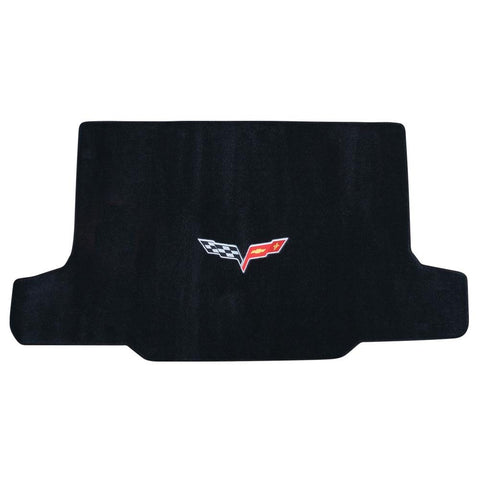 Corvette Cargo Mat Rear Convertible with C6 Emblem Only : 2005-2013 C6-Cargo Mats-Lloyd Floor Mats