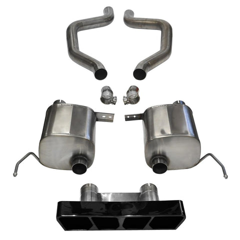 Corvette CORSA Xtreme Axle-Back Performance Exhaust System - Black Poly Tip : C7 Z06-Exhaust System-Corsa Exhaust