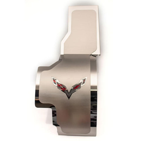 Corvette - Crossed Flags Alternator Cover : C7 Stingray, Z51, Z06, Grand Sport-Engine Dress-Up/Under Hood-American Car Craft