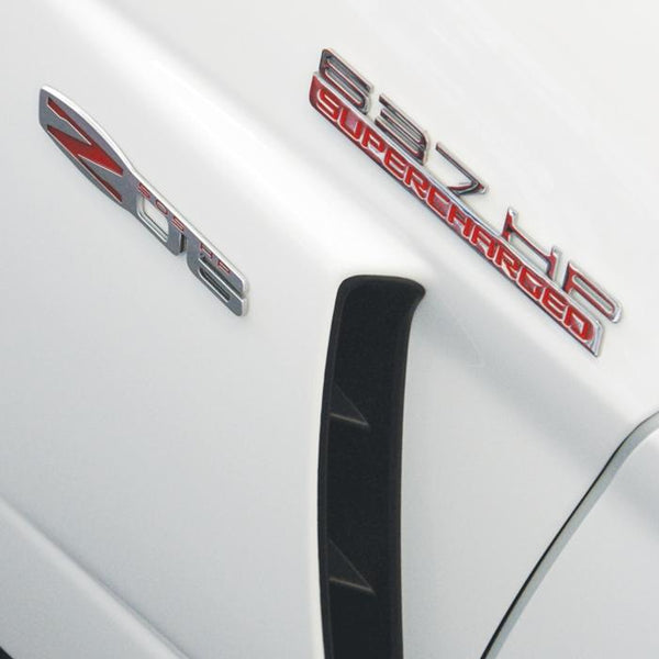 Corvette Custom HP and Supercharged Billet Chrome Badges-Letter Sets & Emblems-SR1 Performance