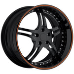 Corvette Custom Wheels - WCC 946 EXT Forged Series : Gloss Black with Orange Stripe-Custom Wheels-SR1 Performance