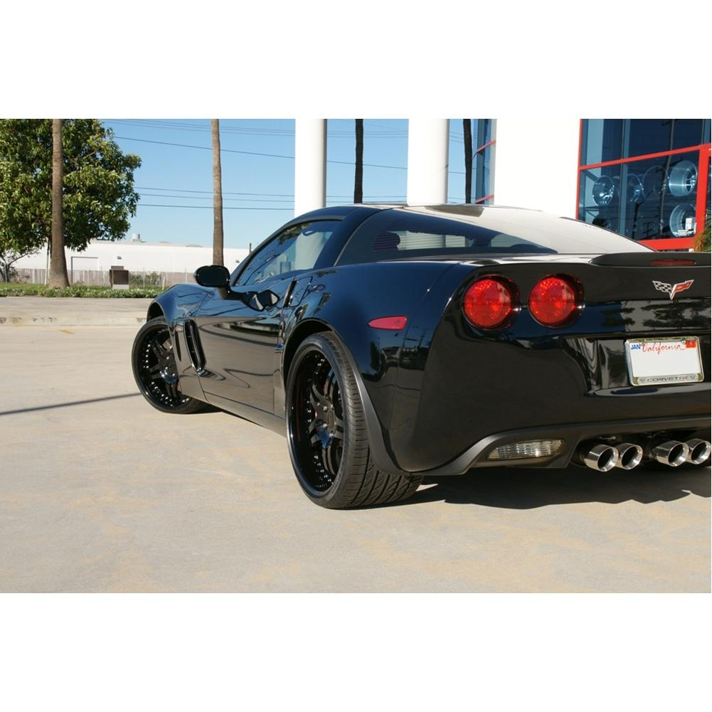 Corvette Custom Wheels Wcc 946 Ext Forged Series Gloss Black With Red Stripe Westcoastcorvette Com