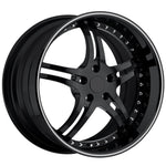 Corvette Custom Wheels - WCC 946 EXT Forged Series : Gloss Black with Silver Stripe-Custom Wheels-SR1 Performance