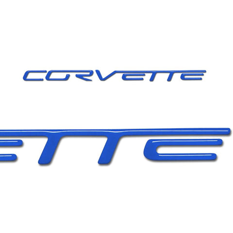 Corvette Domed Airbag Letter Decals - Pass. Side : 2005-2013 C6, Z06, ZR1, Grand Sport-Letter Sets & Emblems-Vette Works International