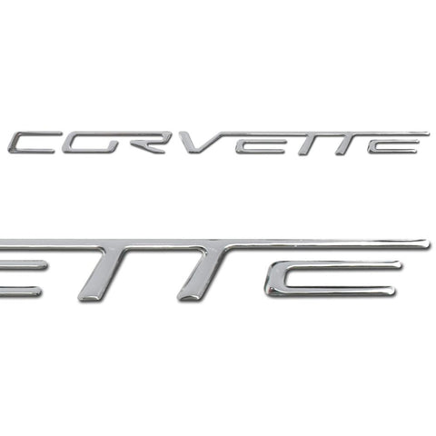 Corvette Domed Bumper Letter Decals - (Set) : 2005-2013 C6, Z06, ZR1, Grand Sport-Letter Sets & Emblems-Vette Works International