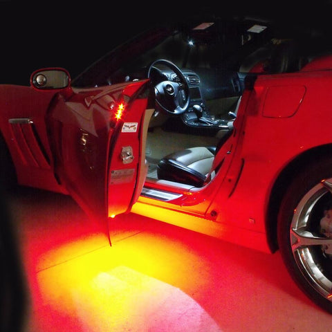 Corvette Door Handle and Puddle LED Light Combo : 2005-2013 C6, Z06, ZR1, Grand Sport-Exterior Lighting Accessories-Custom LED Lighting