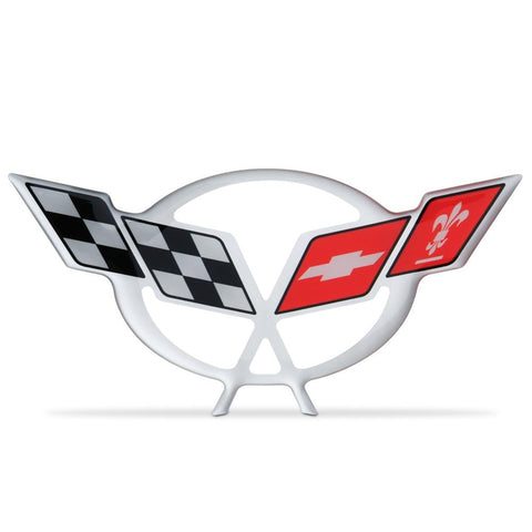 "Corvette Engine Air Bridge - Domed Decal 4.5"" x 2.19"" : 1997-2004 C5 Logo-Letter Sets & Emblems-Vette Works International"