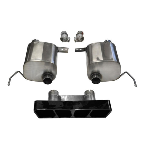 Corvette Exhaust - CORSA Xtreme Valve-Back Performance Exhaust System - Black Poly Tip : C7 Stingray-Exhaust System-Corsa Exhaust