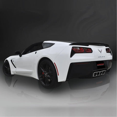 Corvette Exhaust CORSA Xtreme Valve-Back Performance Exhaust System - Polished Poly Tip : C7 Stingray, Z51-Exhaust System-Corsa Exhaust