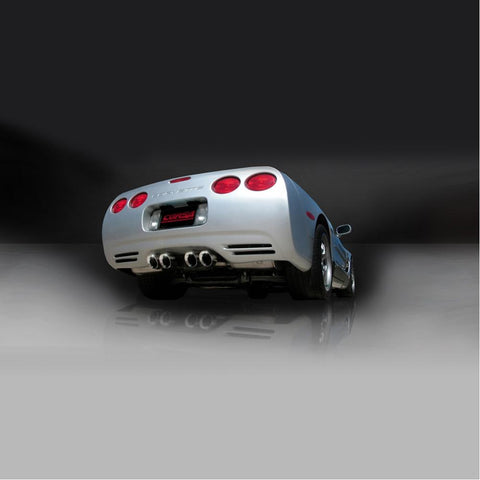 "Corvette Exhaust System Corsa Indy (Sport) Pace Car - Quad 3.5"" Pro Series Tips : 1997-2004 C5 & Z06-Exhaust System-Corsa Exhaust"