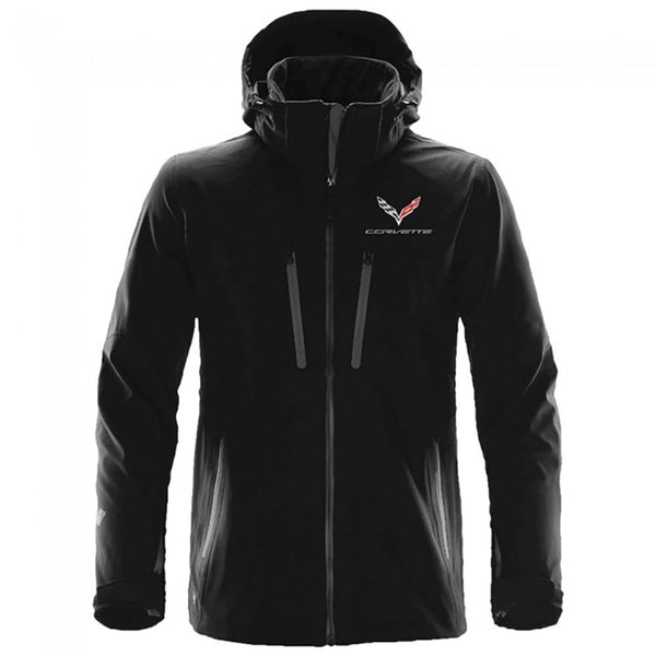 Corvette Extreme Soft Shell Jacket - Black : C7 Stingray-Jackets-Burston Marketing
