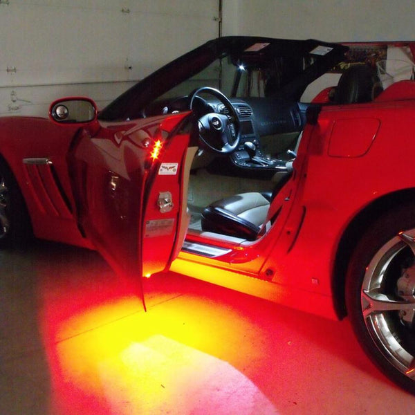 Corvette Footwell/Door Handle/Under Door Puddle LED Lighting Kit : 2005-2013 C6, Z06, ZR1, Grand Sport-Exterior Lighting Accessories-Custom LED Lighting