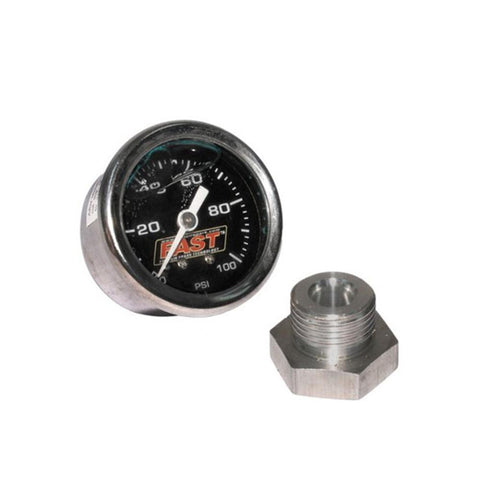 Corvette Fuel Pressure Gauge Kit - FAST 100 PSI EFI : 1997-2013 LSX™/LSXR™/LSXRT™-Fuel Gauges-AutoMeter