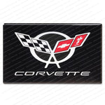 "Corvette Gloss Domed Decal - 5 7/8"" x 3 5/8"" : 1997-2004 C5-Letter Sets & Emblems-Vette Works International"