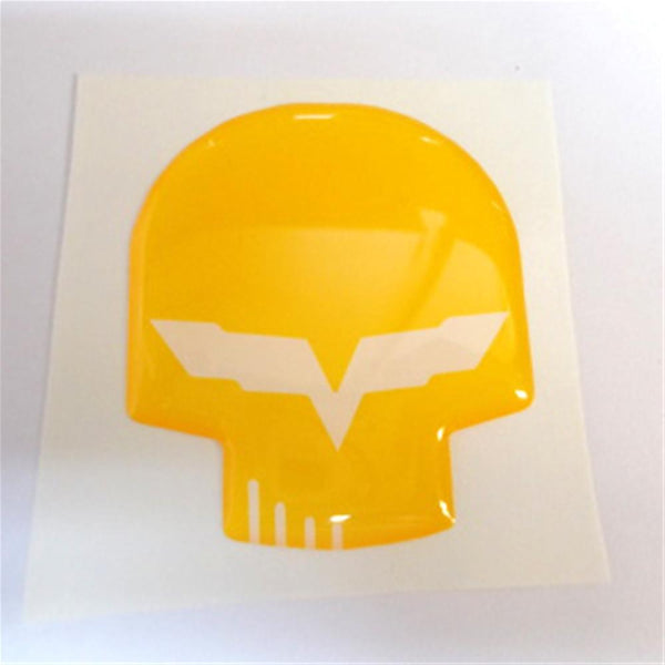 "Corvette Jake Skull Domed Emblem Decal 1"" or 3"" inch : 2005-2013 C6-Letter Sets & Emblems-Vette Works International"