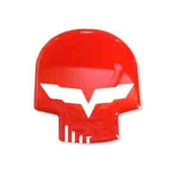 Corvette Jake Skull Domed Emblem Decal 1