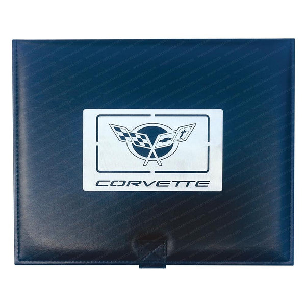 Corvette Jewelry Box w/Brushed Stainless Steel Emblem : 1997-2004 C5-Home & Office-Car Art Work