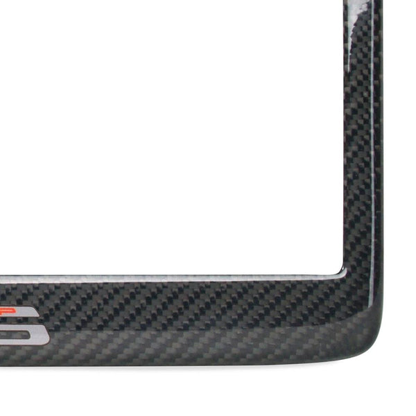 Corvette Logo License Plate Frame - Carbon Fiber : C6 Z06 2006 - 2013-License Plate Frames-West Coast Corvettes