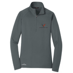 Corvette Next Generation Eddie Bauer Half Zip Fleece Jacket - Ladies : Charcoal-Jackets-Ralph White Merchandising