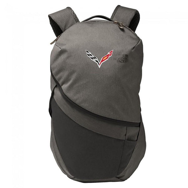Corvette North Face® Aurora II Backpack with C7 Cross Flags Logo : C7 Stingray-Bags & Luggage-Burston Marketing