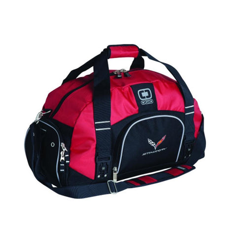 Corvette OGIO Big Dome Duffle with C7 Cross Flags Logo : C7 Stingray-Bags & Luggage-Ralph White Merchandising