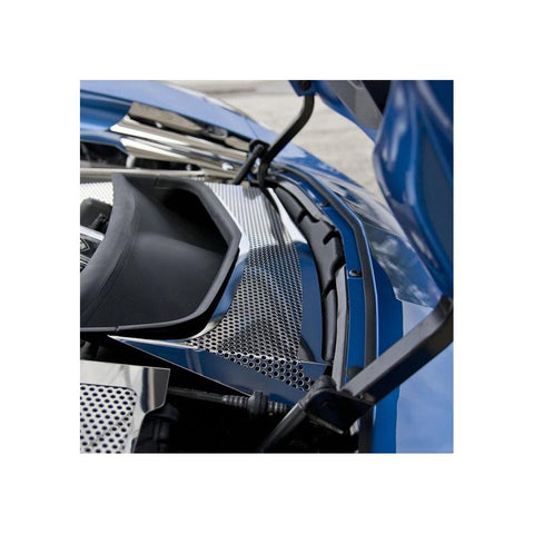 Corvette Radiator Duct Cover - Polished : C7 Stingray, Z51, Z06, Grand Sport-Engine Dress-Up/Under Hood-American Car Craft
