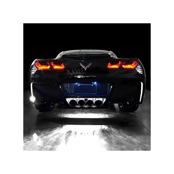 Corvette Rear Fascia/Exhaust LED Lighting Kit : C7 Stingray, Z51, Z06, Grand Sport, ZR1-Tail Lights-Custom LED Lighting