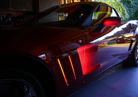 Corvette Side Cove LED Lighting Kit with (4) Function Remote : 2010-2013 Grand Sport only-Exterior Lighting Accessories-Custom LED Lighting