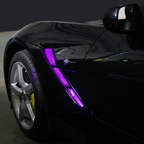 Corvette Side Cove/Hood Scoop LED Lighting Kit with (4) Function Remote : C7 Stingray-Exterior Lighting Accessories-Custom LED Lighting