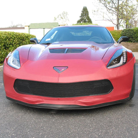 Corvette SpeedLingerie Super Bra - Nose Cover - Stage 1 w/out Grille Camera : C7 Grand Sport-Bra & Mask-Speed Lingerie
