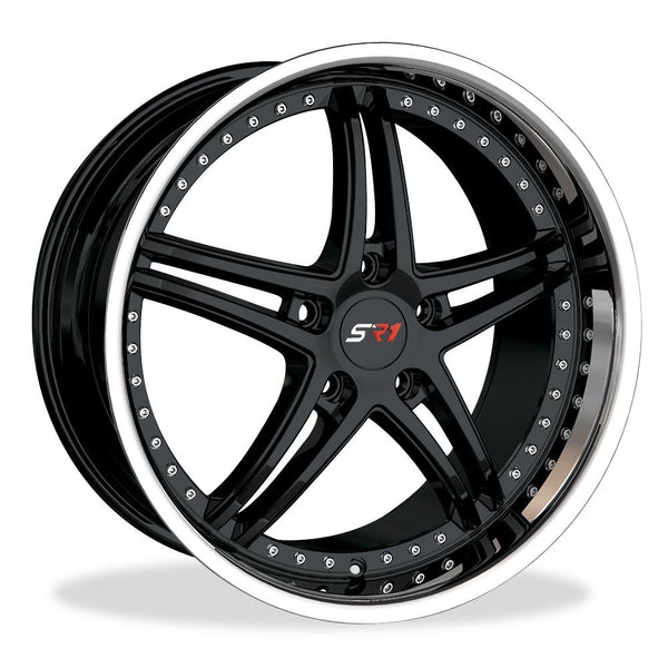 Corvette SR1 Performance Wheels - BULLET Series : Black Center w/Polished Lip-Custom Wheels-SR1 Performance