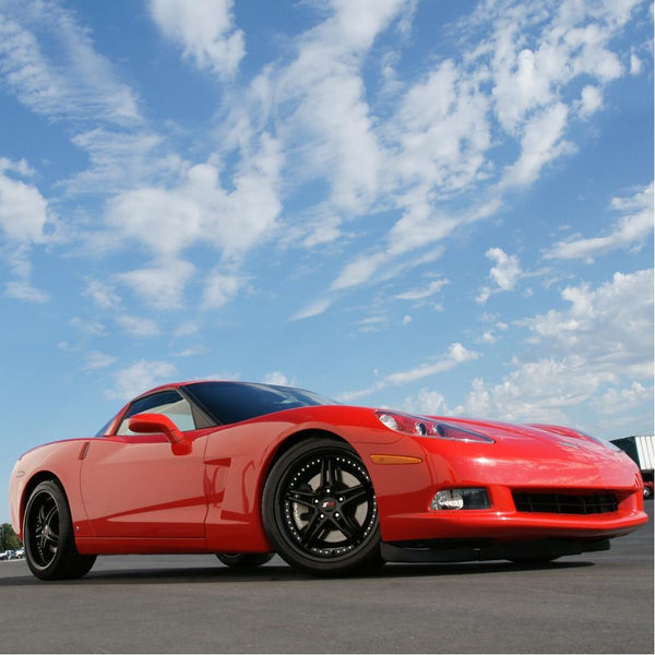 Corvette SR1 Performance Wheels - BULLET Series : Semi Gloss Black-Custom Wheels-SR1 Performance