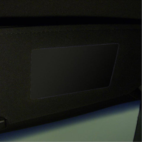 Corvette Sun Visor Warning Label Covers : C5, C6, C7, Z06, Grand Sport, ZR1-Dash Kits & Accessories-West Coast Corvettes