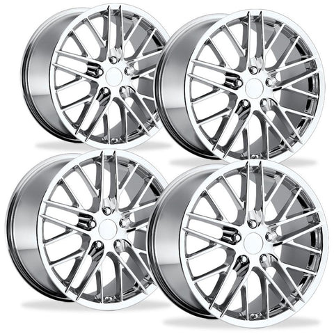 Corvette Wheel - 2009 ZR1 Style Reproduction (Set) : Chrome C5-Reproduction Wheels-Factory Reproductions