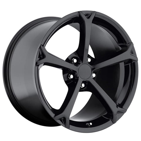 Corvette Wheel - 2010 Grand Sport Style Reproduction (Set) - Gloss Black-Reproduction Wheels-Factory Reproductions