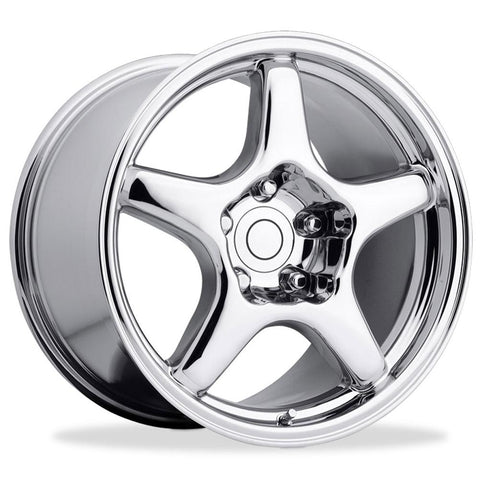 Corvette Wheels - 1994 ZR1 Style Reproduction : Chrome-Reproduction Wheels-West Coast Corvettes
