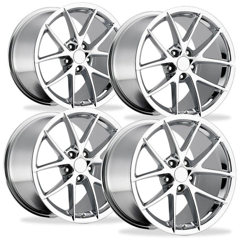 Corvette Wheels - 2009 C6Z06 Spyder Style Reproduction (Set): Chrome-Reproduction Wheels-Factory Reproductions