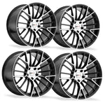 Corvette Wheels - Cray Astoria (Set) : Gloss Black with Mirror Face-Custom Wheels-Cray Wheels