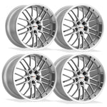 Corvette Wheels - Cray Eagle (Set) : Silver with Mirror Cut Face and Lip-Custom Wheels-Cray Wheels