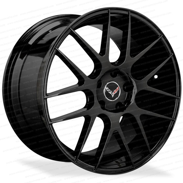 Corvette Wheels L-CC7 Monoblock - Lexani - Gloss Black : C6, C7, Z51-Custom Wheels-Lexani