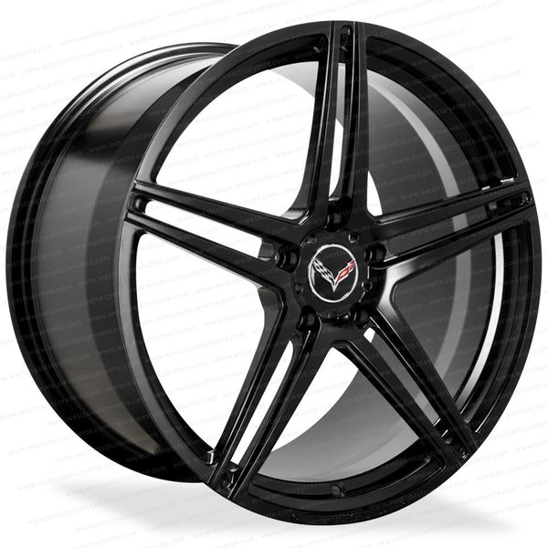 Corvette Wheels LF-CM5 Forged Monoblock - Lexani - Black : C6, C7, Z51-Custom Wheels-Lexani