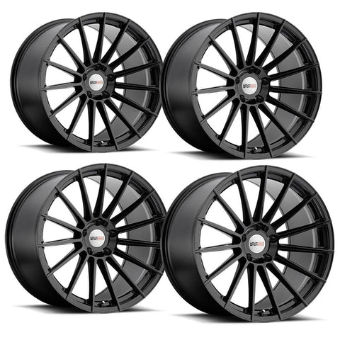 "Corvette Wheels (Set) - Cray Mako Gloss Black : 18"" x 9.5"" / 19"" x 10.5""-Custom Wheels-Cray Wheels"