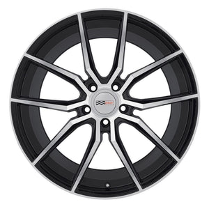 Corvette Wheels (Set) - Cray Spider - Gloss Black w/ Mirror Cut Face-Custom Wheels-Cray Wheels