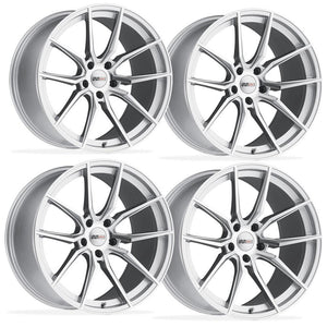 Corvette Wheels (Set) - Cray Spider - Silver w/ Mirror Cut Face-Custom Wheels-Cray Wheels