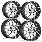 Corvette Wheels - TSW Nurburgring (Set) : Gunmetal with Machined Face-Custom Wheels-TSW Alloy Wheels