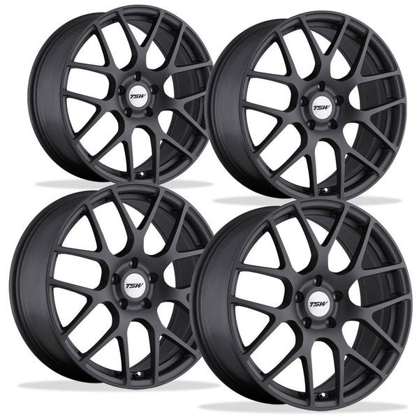 Corvette Wheels - TSW Nurburgring (Set) : Matte Gunmetal-Custom Wheels-TSW Alloy Wheels